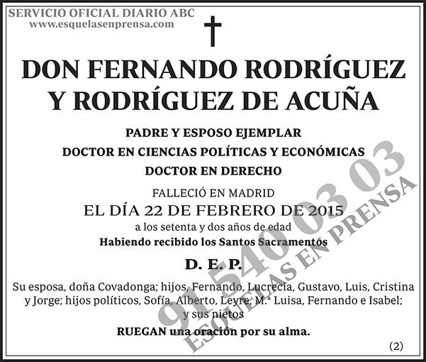 Fernando Rodríguez y Rodríguez de Acuña